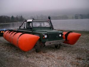 Amphibious Land Rover Defender 110 Truck Cab
