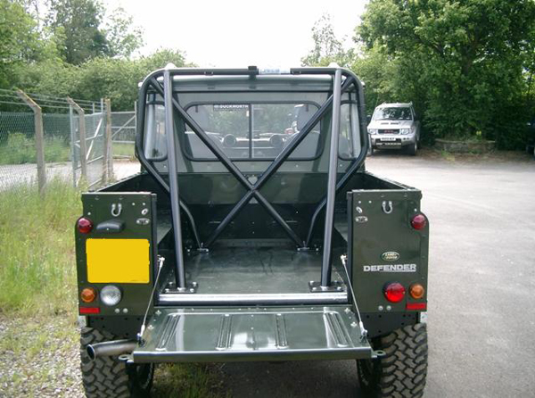 Land Rover Defender with Protection & Performance tight fit roll cage
