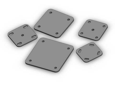 Various Protection & Performance mounting plates