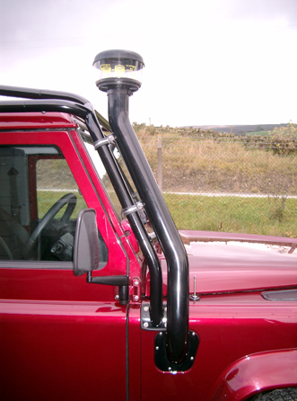 3 inch Protection & Performance snorkle on Land Rover Defender